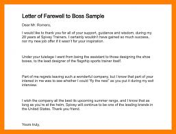8 Goodbye Letter To Boss Agile Resumed
