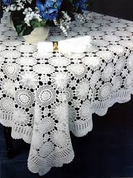 snow flake crochet lace tablecloth 233