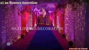 What wedding decor is needed? Wedding Decoration Ideas Indian Wedding Sidewall Decoration Flowers Depo Stage Top Decorationlight Youtube