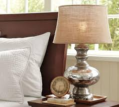 table lamps lighting. adorable mercury glass table with burlap shade in contemporary bedroom interior decorating ideas lamp lighting lamps