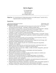 Kindergarten Teacher Resumes Resume For Your Job Application