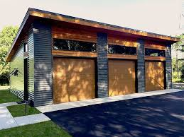 Trendy Ideas For Modern House Plans :  Picture :  Description  Architectural Designs 3 Car Modern Garage Plan gives you over sq. Ready  when you are.