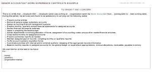 Format Of Employer Certificate Work Experience Letter Format For Accounts Employment