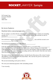 before action letter before claim letter before action template sample letter before action