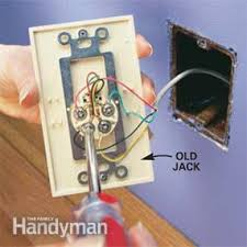 replace a phone jack the family handyman replace a phone jack and phone jack wiring