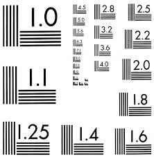 R67 Nbs 5 Bar Test Chart