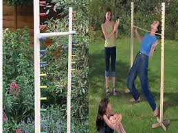 Wooden Limbo Game 100100M LARGE Wooden Limbo Game Pole Bar Pub Kids Adults Family 63