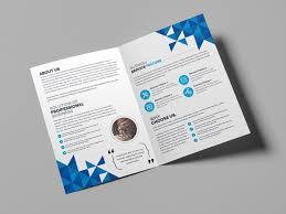 2 Folded Brochure Template Angel Creative Bi Fold Brochure Template Graphic Templates