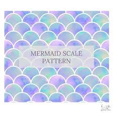 Mermaid Pattern Amazing Mermaid Scales Patterned Vinyl Choose Adhesive Or HTV Standout Vinyl