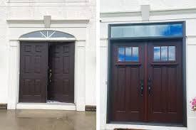 craftsman double front door. Craftsman Style Double Front Doors On A Traditional Home Craftsman Double Front Door E