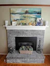 Gray Brick Fireplace Fireplace Wonderful Savannah Gray Brick Fireplace How To Update