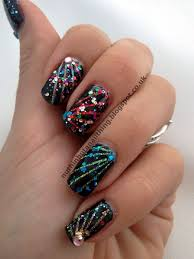Nail Polish Designs For New Years New Years Fireworks Firework Nail Art Firework Nails