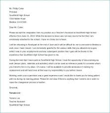 Resignation Letter Format For School Teacher Due To Illness Copy