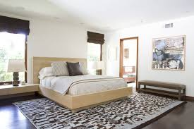 Bedroom: Enchanting Interior Design Bedroom With Wide Bed Beside Table  Lamps On The Table Near