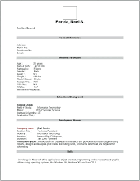 Blank Resume Form Amazing Download Blank Resume Format For Freshers Form Write Free
