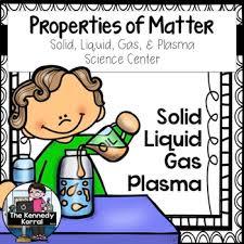 Properties Of Matter Anchor Chart Properties Of Matter Solid Liquid Gas Plasma