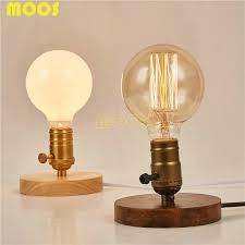 beautiful copper bedside lamps vintage edison bulb vintage table lamp copper desk lamp wood base