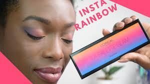 INSTA RAINBOW MAKEUP - avec la palette <b>Glam</b> - YouTube