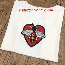 1pcs New Love <b>heart</b> bees and <b>snakes Embroidery</b> applique ...