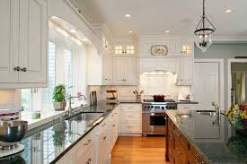 lighting kitchen sink kitchen traditional. Lighting Over Kitchen Sink Traditional With Cherry Island Granite Counters. Image By: Architectural Kitchens Inc E