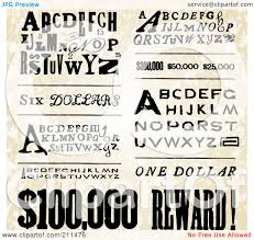 collage fonts free royalty free rf clipart illustration of a digital collage of old