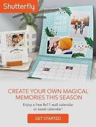 8x11 Calendar Shutterfly 8x11 Wall Calendar Or Easel Calendar Coupon Code