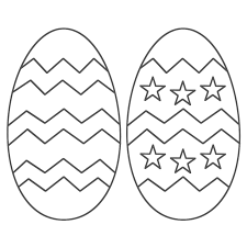 Free Printable Easter Eggs Coloring Pages With Free Printable Easter