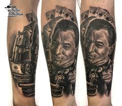 черно белая татуировка черно белый портрет тату роберт де ниро