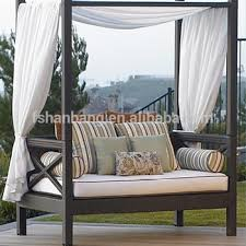 Outdoor Patio Wicker Rattan Bali Sunbed Daybed Furniture Lounger ...