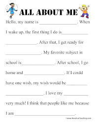 All About Me Worksheets Pdf Printable 7 Habits Leader In Me Worksheets Ds Of Healthy For