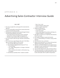 appendix c advertising s contractor interview guide page 96