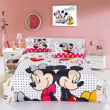 white minnie mouse twin bedding set