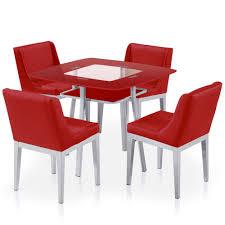 Chaise Blanche Design Salle A Manger 11 Table De Cuisine En Verre