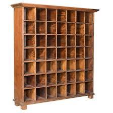 vintage wooden pigeon hole cabinet