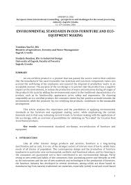 Eco Design Standards Pdf Environmental Standards In Eco Furniture And Eco