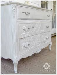 painting furniture whiteTweak  Style Blog The Hand Painted Dresser How to Add a Hand