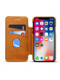 iphone xs max leather folio case with card holder