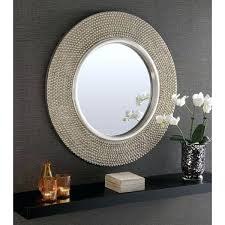large round silver mirror large round silver stud framed wall mirror diam round mirrors mirrors large round silver mirror
