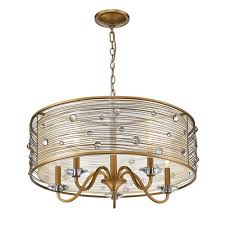 golden lighting joia 5 light peruvian gold chandelier light with sheer filigree mist shade