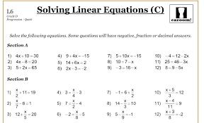 grade 8 linear equations worksheets worksheet free printable 8th math on best algebra