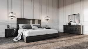 modern black bedroom furniture. Modrest Ari Italian Modern Grey Bedroom Set Black Furniture K