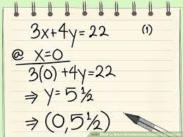image titled solve simultaneous equations graphically step 2