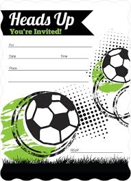 Soccer Party Invite Heads Up Fill In The Blank Soccer Party Invitation
