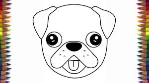 cute dogs drawings step by step. Brilliant Dogs How To Draw A Cute Dog Emoji Pug Quick And Easy Step By In Cute Dogs Drawings Step By