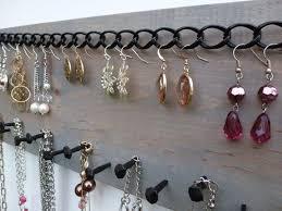 Wall Jewelry Organizer Driftwood Jewelry Organizer 2ft Hanging Jewelry Display Aztec