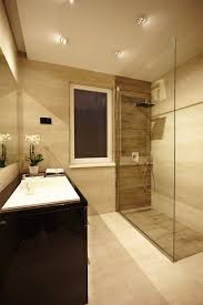 recessed lighting exciting interior bathroom wall. excellent picture of beige bathroom decoration using unframed glass shower door including modern square recessed light lighting exciting interior wall r