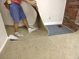 cut away excess carpet but leave 3 inches extra