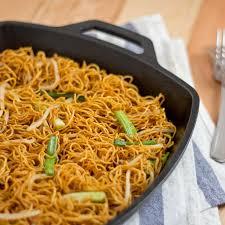 chinese food fried noodles. Modren Food Panfried Noodles With Soy Sauce  On Chinese Food Fried