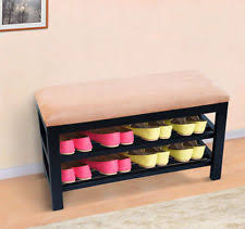 Coat Hanger And Shoe Rack Homcom Shoe Bench Storage Wardrobe Coat Hanger Rack Mirror Entryway 98