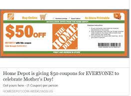 Scam Home Depot Facebook Coupon